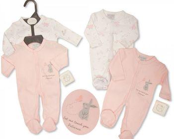 PB377P, Premature Baby Girls Sleepsuit 2-Pack - Patience £6.05.  6PKS...