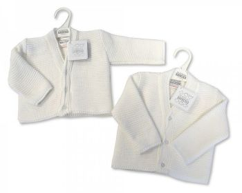 BW535, Knitted Baby Boys Cardigan £3.25.  PK12...