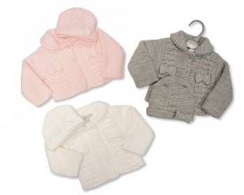 BW640, Knitted Baby Pram Coat with Hat £11.25.    PK6...