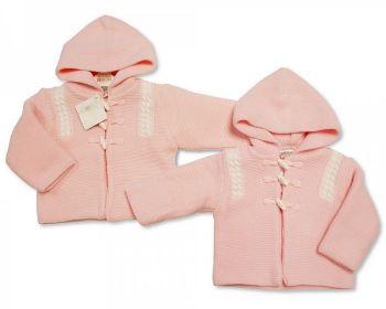 BW645, Knitted Baby Girls Pram Coat £11.00.   PK4...