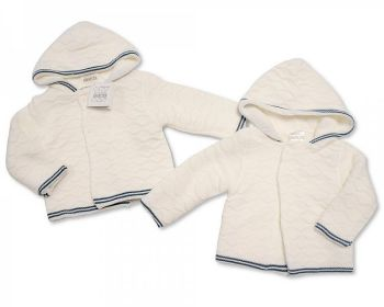 BW644, Knitted Baby Boys Pram Coat £10.60.  PK4...