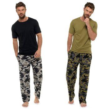 HT180, Mens Camo Print Jersey Pyjama £7.95.  pk36...