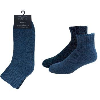 SK674, Mens 2pk Slipper Socks With Grip £3.40.   48pks...