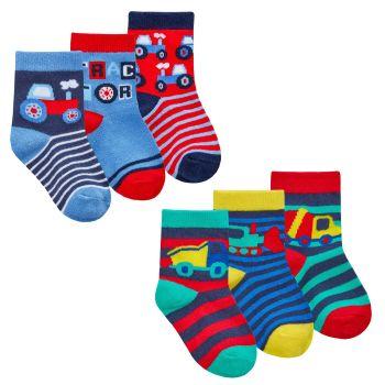 44B935, Baby Boys 3 in a pack Cotton Rich Design Socks £1.35.   24pks...