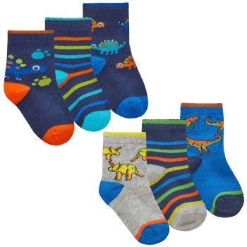 44B939, Baby Boys 3 in a pack Cotton Rich Design Socks £1.35.   24pks...