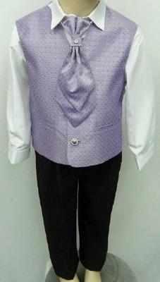 *(C), Code:110, Boys stylish lilac waistcoat suit with a cravat....(OUT OF STOCK)