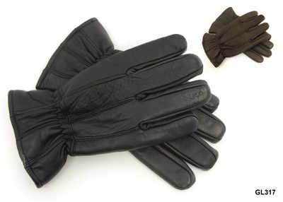 GL317, Mens leather gloves £2.22.  pk12...