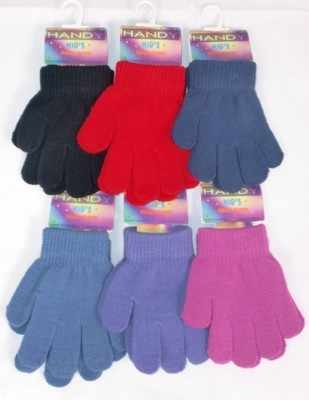GLM101, Kids magic gloves in assorted colours £0.30.  pk12..