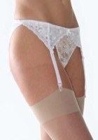 "SB1, ""Silky"" brand suspender belt with 4 straps, plastic & rubber clasps, adjustable hook & eye fastener £1.70.  pk3.."