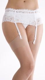 "*SB2, ""Silky"" brand wide stretch lace suspender belt with 4 straps, plastic & rubber clasps, adjustable hook & eye fastener £2.15.  pk3.."