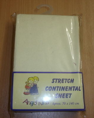 Fitted cot bed sheet £3.50.  pk3...