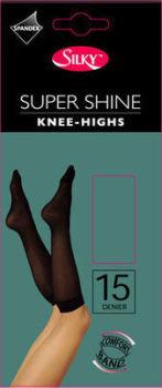 """""""Silky"""" brand super shine knee highs £0.55.  pk6....."""