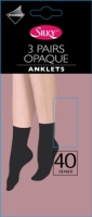 """Silky"" brand 40 denier 3 pair pack opaque anklets £1.50.  pk6..."