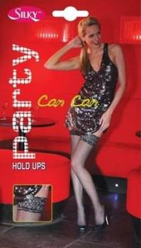 """""""Silky"""" brand """"Can Can"""" fishnet design lace top hold ups £2.75. pk6.."""
