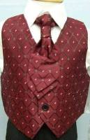 Code:2001BU, Boys 5 piece suit comprising shirt, jacket, trouser, waistcoat & cravat....