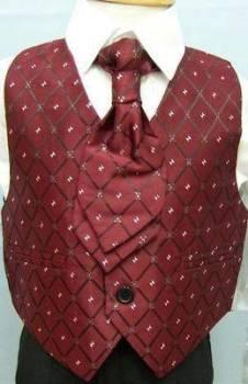 Code:2001BU, Boys 5 piece suit comprising shirt, jacket, trouser, waistcoat & cravat....