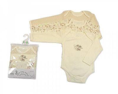 BW0602, 3 pack long sleeve cotton body vest in cream colour £4.65.  8pks....