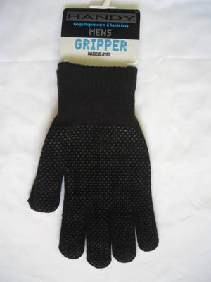 GLM82, Mens magic gripper gloves £0.54.  pk12...