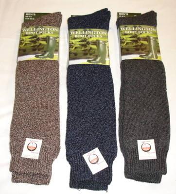 SE5, Mens Wellington Boot Socks.   1 dozen....