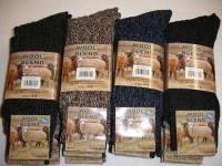 SE011, Mens 3 in a pack wool blend boot socks £2.00.   1 dozen...