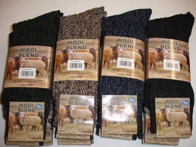SE6, Mens 3 in a pack wool blend boot socks £1.88.   1 dozen...
