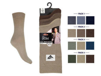 *ALLF3, Mens fashion assorted lycra socks.  1 dozen.....