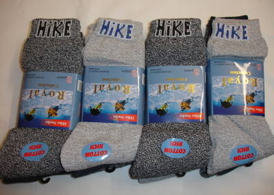 RL21, Mens 3 pair pack  Hike Socks £0.99, 1 dozen....