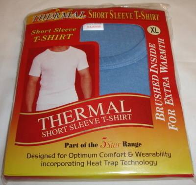 Mens Blue Thermal Tshirt £1.35.  pk6.....