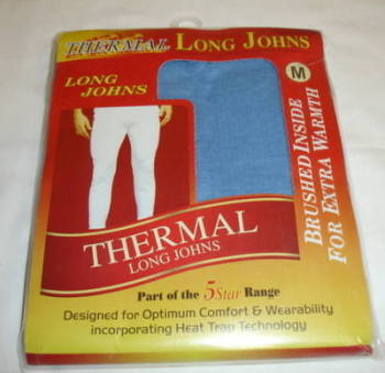 Mens blue thermal long john £1.45.  pk6....