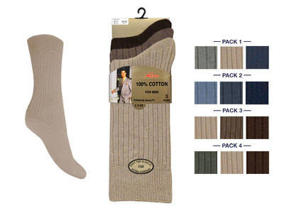 *ALCF3, Mens fashion assorted 100% cotton socks. 1 dozen....