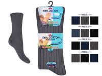 AL44, *Mens 100% cotton Non Elastic dark assorted Socks. 1 dozen.