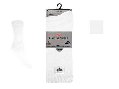 AL23, Ladies 3 in a pack lycra white socks £1.20.  1 dozen...
