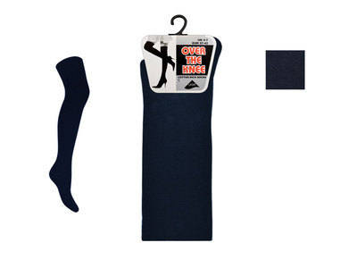 OTNN, Ladies plain navy over the knee socks, 1 dozen.....