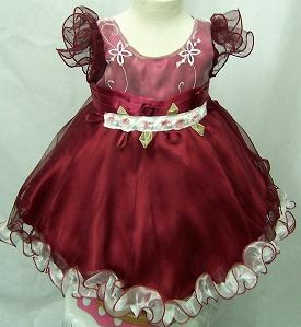 Code:4115S, Baby girls stunning party dress £7.25.  pk12.....