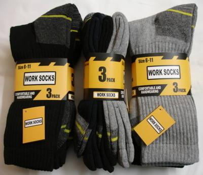 40B184, Mens 3 in a pack work socks £1.74.  8pks......