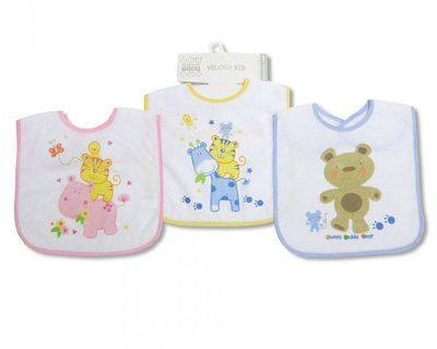 BW659, Baby Touch Fastening Bibs with PEVA Backing, 1 dozen...