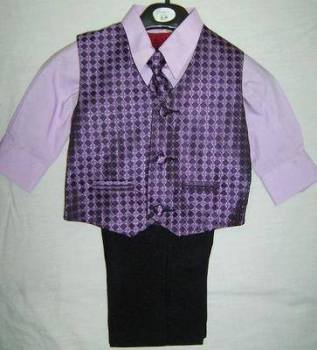 *(C), Code:122, Boys stylish lilac suit consisting of waistcoat, trouser, shirt & tie....