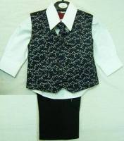 *(C), Code:122, Boys stylish suit consisting of black waistcoat, black trouser, white shirt & black tie....