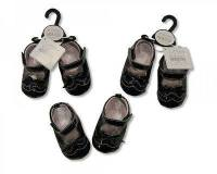 "BSS415, ""Nursery Time"" brand baby girls black shoes £2.50. pk12.."