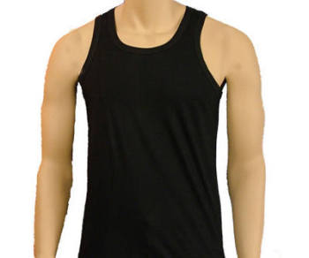 MV1, Mens cotton coloured vests £0.85, 1 dozen....