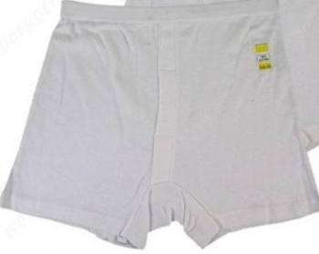 "RH176, ""Five Star"" brand mens white cotton trunks.  1 dozen..."