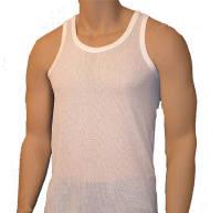 """MV6, """"Five Star"""" brand Mens White Airtex Vests, 1 dozen......"""