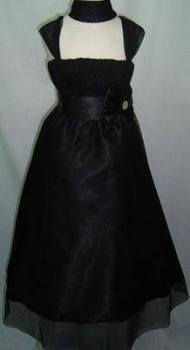 """P036BLK, """"Gorgeous Collection"""" brand girls beautiful sleeveless party dress in black colour with bolero £16.95.  pk3.."""