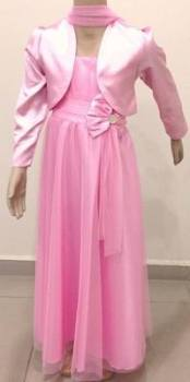 """P036PINK, """"Gorgeous Collection"""" brand girls beautiful sleeveless party dress in pink colour with bolero £16.95.  pk3.."""