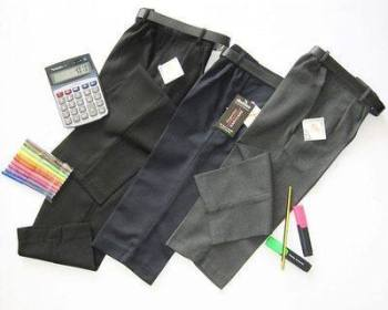 Boys Half Elasticated Trouser (BELT NOT PROVIDED).....