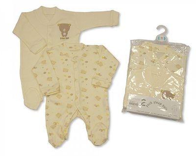 BW603, 2 pack cream sleepsuit £4.65.  6pks......