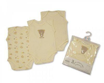 BW610, 3 pack sleeveless env neck cotton bodysuit £3.25.  8pks...