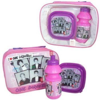 """*""""One Direction"""" pink/black lunch bag set £2.00.  pk8..."""