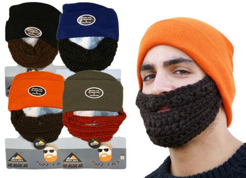 HAI778, Mens fuzz face beard hat £2.00.  pk12..