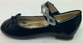 """HS008B, """"Gorgeous Collection"""" girls beautiful party shoes in black £7.95.  pk15....."""